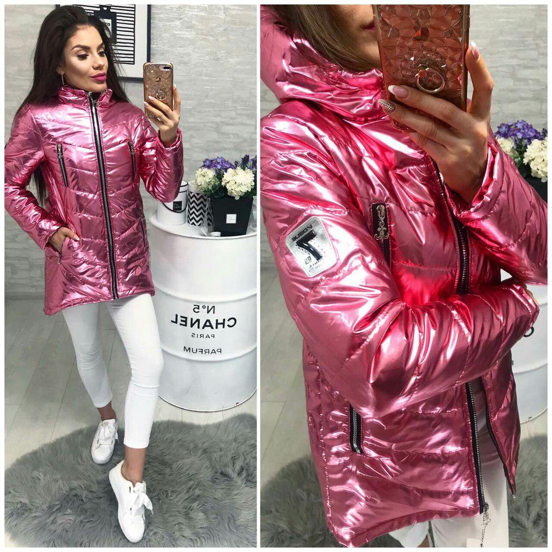 Куртка весна/осень 2018, модель 300, цвет - розовое серебро