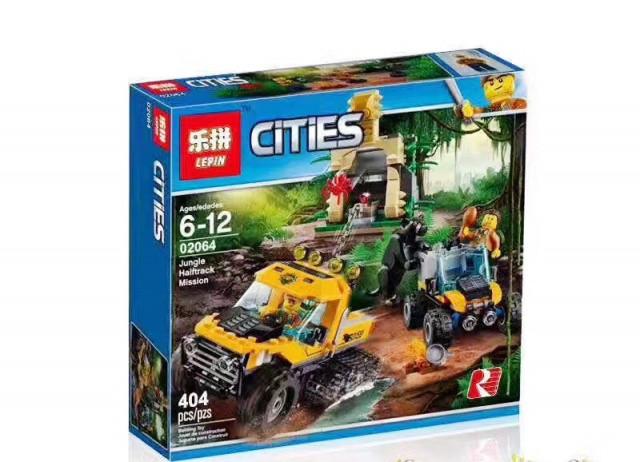 Конструктор Lepin 02064 City Исследование Джунглей 404 дет