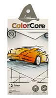 Карандаши цветные 12цв. MARCO Colorcore 3100-12CB