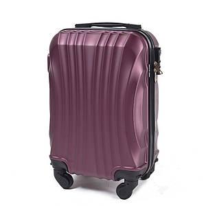 Ручная кладь чемодан пластиковый из поликарбоната бордовый WS951-13 малый 42 л