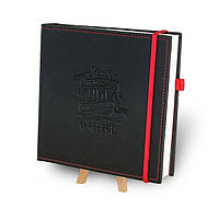 """Кук-бук для записи рецептов """"Книга кулинарных секретов совместно с Saveurs"""" Черный с красным"""