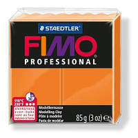 Глина полимерная FIMO Professional 85г оранжевая 8004-4