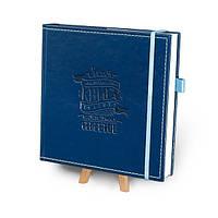 """Кук-бук для записи рецептов """"Книга кулинарных секретов совместно с Saveurs"""" Кобальт с голубым"""