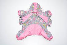 Комбинезон для собак Фантазия с капюшоном розовый, фото 2