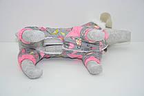 Комбинезон для собак Фантазия с капюшоном розовый, фото 3