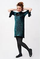 Нарядное платье для девочки из велюра