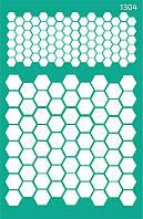 Трафарет самоклейка многоразовый 13*20см Rosa Talent Фоновый №1304 серия Абстракция GPT50045834