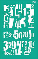 Трафарет самоклейка многоразовый 13*20см Rosa Talent Фоновый №1750 серия Цифры GPT50045843