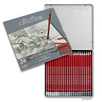 Карандаши простые CRETACOLOR набор 24шт в метал коробке Cleos 16024