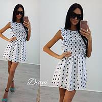 Легкое платье на лето с принтом tez140381