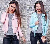 Женская модная куртка-косуха на молнии