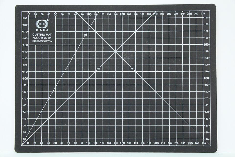 Коврик для резки самовосстанавливающийся А4 (300*220*3мм) DAFA Черный