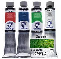 Краска масляная Van Gogh 40мл Royal Talens №623 Сочная зеленая 02056233