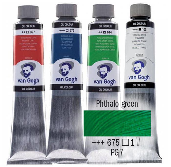 Краска масляная Van Gogh 40мл Royal Talens №675 Зеленая ФЦ 02056753