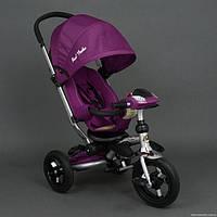 Велосипед-коляска Faster  Trike 698 с опускающейся спинкой (фиолетовый)