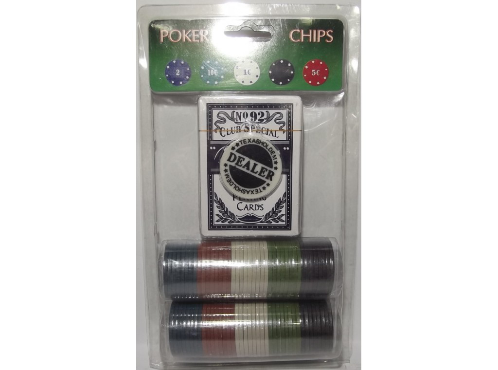 I4-3 Набор для игры в покер (81 фишка+колода карт)