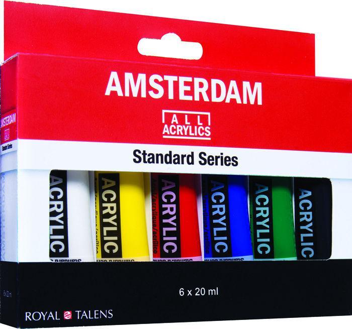 Краски акриловые Amsterdam набор 6цв. по 20мл Royal Talens 17820406