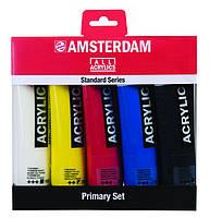 Краски акриловые Amsterdam набор 5цв. по 120мл Royal Talens, Primary set 17790905