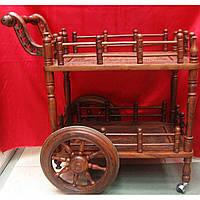 Столик сервировочный на колесах розовое дерево