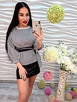 Элегантная женская блузка под пояс
