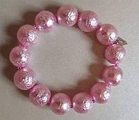 Чешский браслет Мразовка розовый