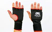 Перчатки с бинтом внутренние гелевые из полиэстера Venum 6233: размер S-XL