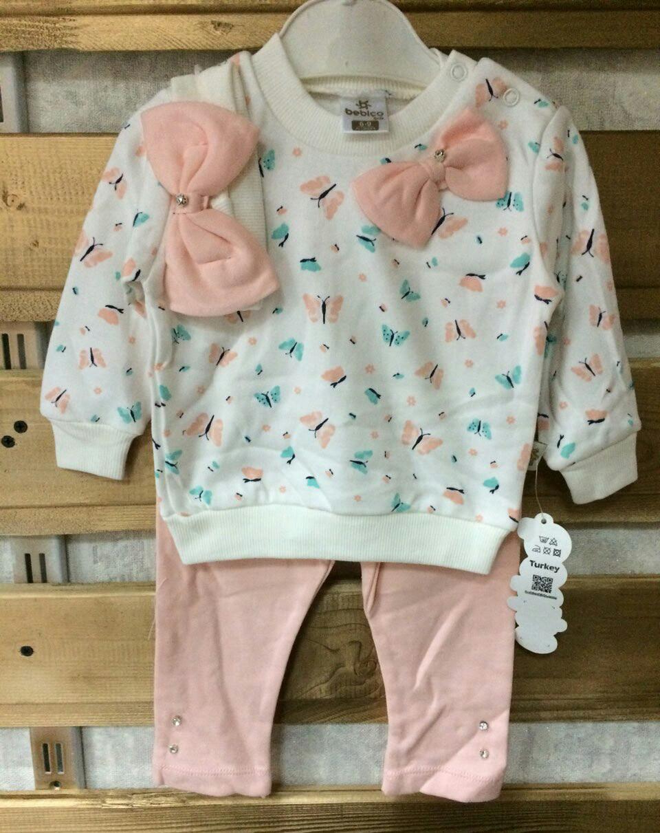 Детский костюм 6-12 мес для новорожденных на девочек Турция оптом