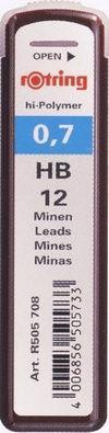 Грифели для механических карандашей 0,7мм ROTRING HB S0312690