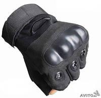Тактические перчатки Oakley беспалые Черные, фото 1