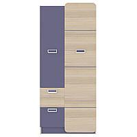 Шафа JASMINE A Blonski 2-х дверна коімбра+фіолет синій