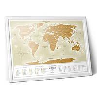Скретч-карта мира Gold New РУС