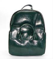 Женский рюкзак зеленого цвета из натуральной кожи NАК-054242, фото 1