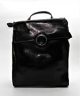 Прекрасный женский рюкзак черного цвета из натуральной кожи NNW-040008, фото 1