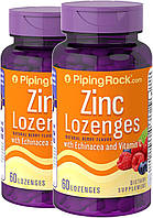Витамины и Минералы Piping Rock Zinc Lozenges with Echinacea & C (Natural Berry Flavor) 60 Lozenges
