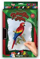 Набор для творчества DankoToys DT VGL-01-01 вышивка гладью с рамкой 21*31см Попугай