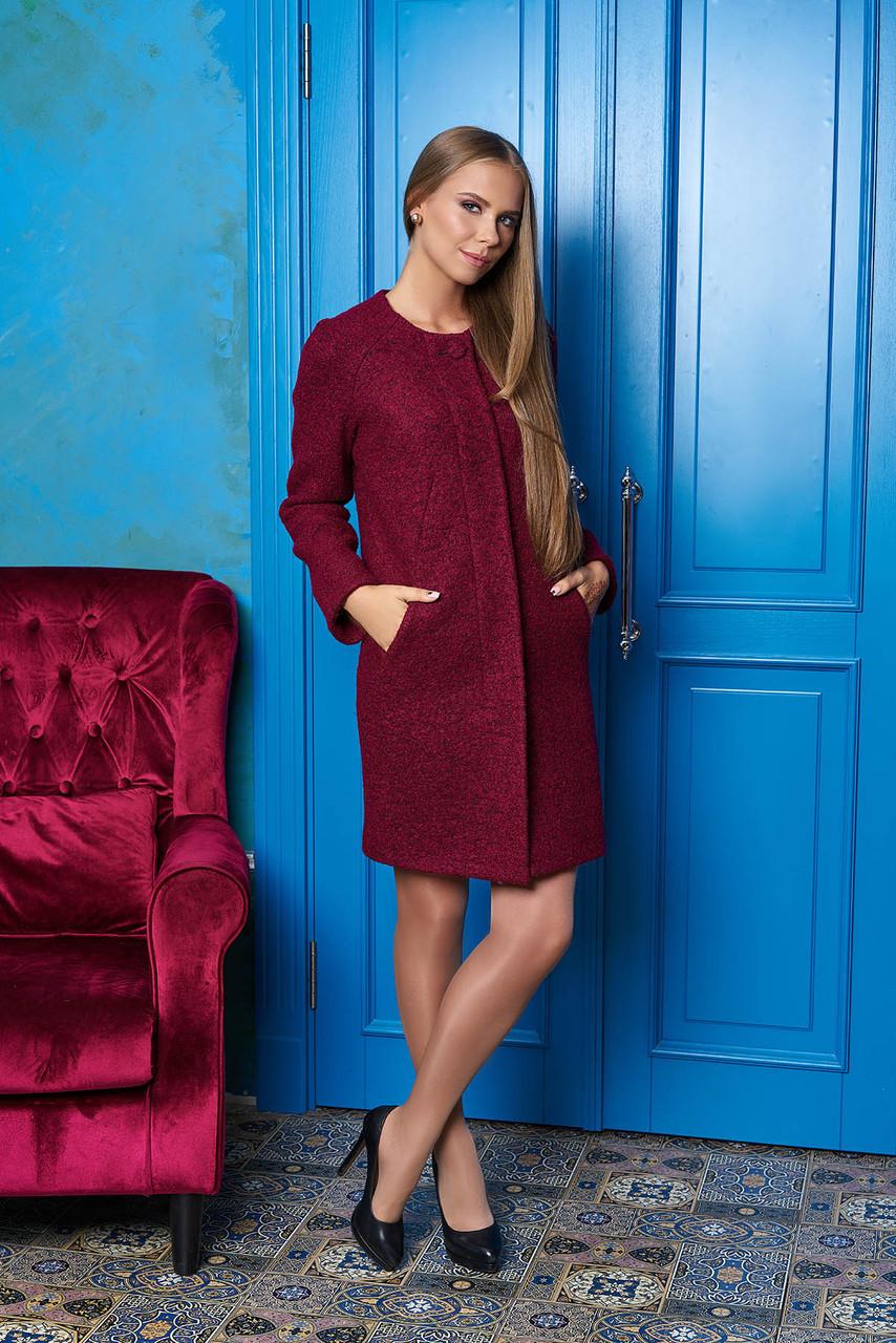 Жіноче бордове пальто Denni 44 - Інтернет-магазин жіночого одягу KIVI в  Ивано-Франковске fd3db9c217599