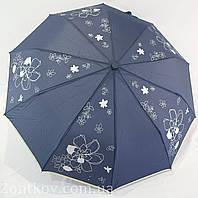"""Зонтик женский полуавтомат с серебристым узором от фирмы """"MaX"""""""