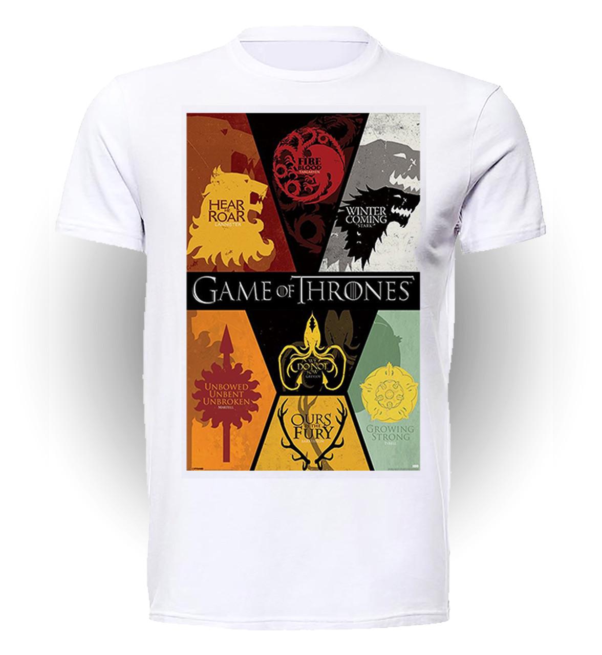 Футболка GeekLand Игра Престолов Games of Thrones Дома Вестероса art GT.01.037