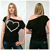 Женская футболка на одно плече  tez91721