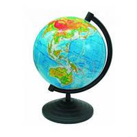 Глобус настольный диаметр 16см МаркоПоло на пластиковой ножке физический гф16