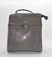 Прекрасный женский рюкзак серого цвета из натуральной кожи NNW-040303, фото 1