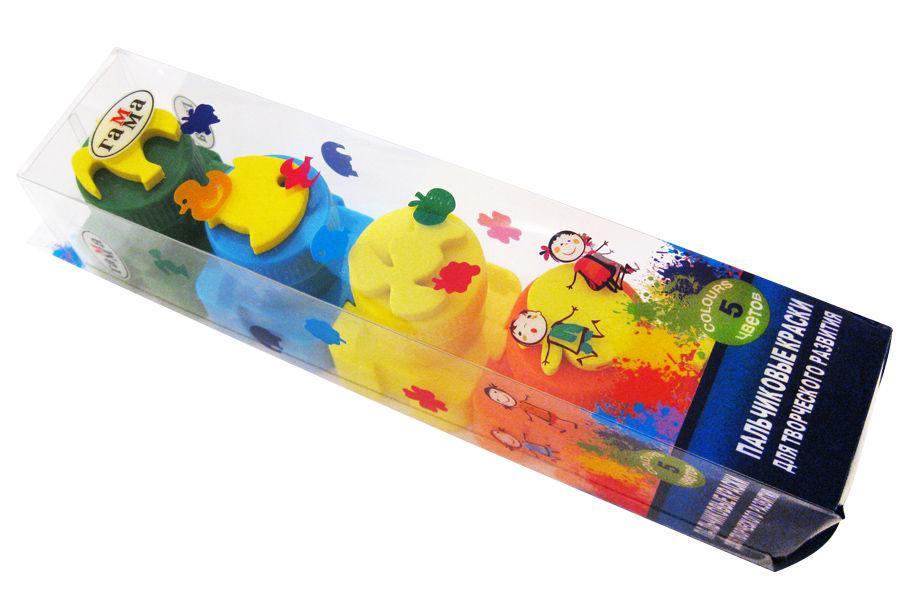 Краски пальчиковые Гамма Лидер набор 5цв. со штампиками 5005/7916