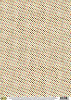 Декупажная карта-бумага 29,5*42см Vintage Design Цветные горошины F-120 (фоновая бумага)