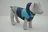 Жилет Трио с капюшоном для собак синяя