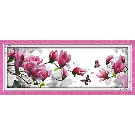 Набор для вышивания Идейка 120*46см Розовые магнолии H269