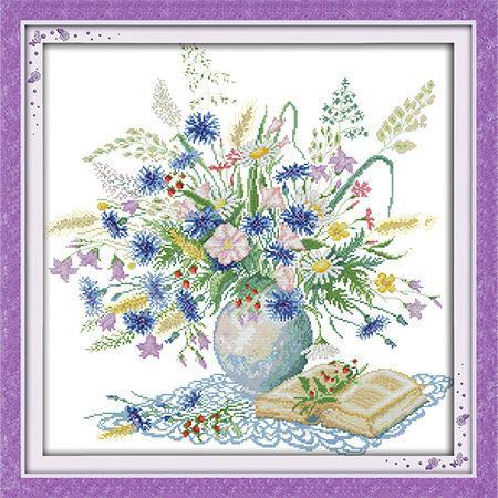 Набор для вышивания Идейка 55*55см Романтический букет H303