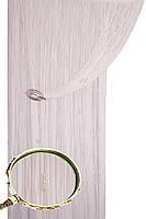 Шторы-нити Кисея Жемчужина. Белый с белыми бусинами