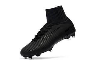 Бутсы футбольные Nike Mercurial Superfly V DF-FG Black