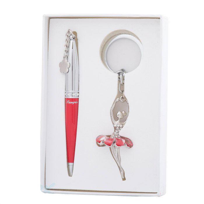 Ручки в наборе Langres Ballet 1шт+брелок красный LS.122021-05