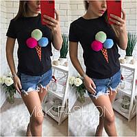 Женская футболка Ice Cream в разных цветах tez41713